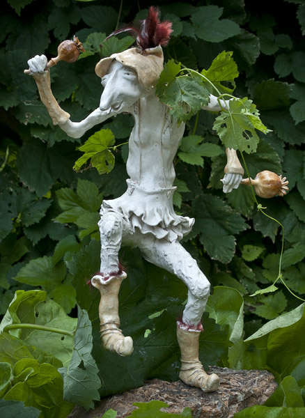 A garden troll by the Swiss artist Barbara Suter